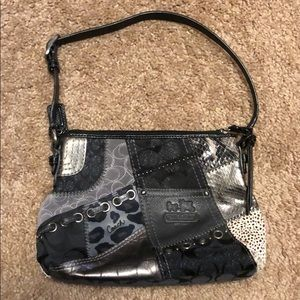 Coach Patchwork Collection grey black small bag